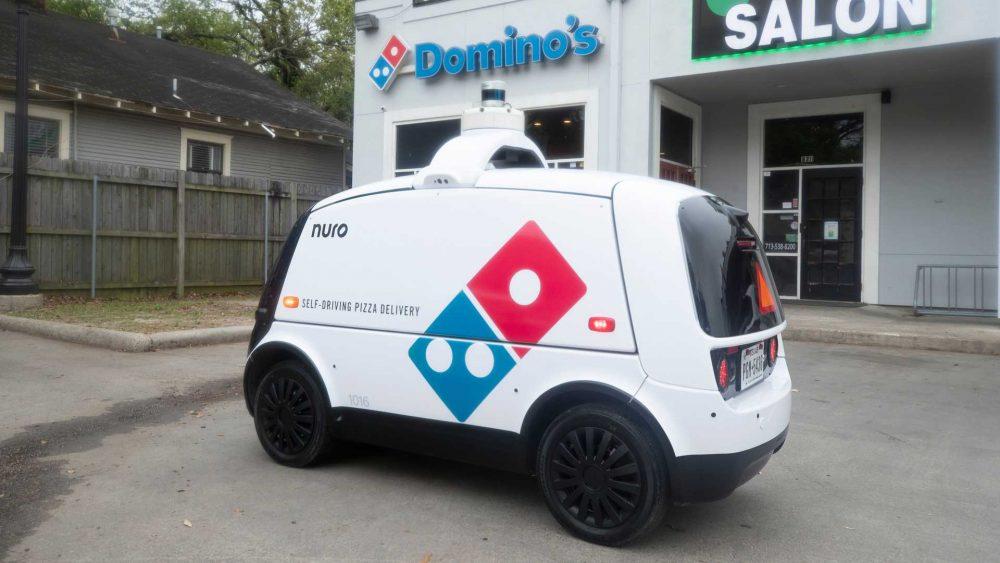 Domino's Initiates Automatic Pizza Delivery using a Self Driven Robot Car Nuro R2